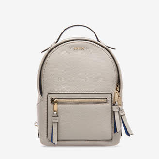Bally The Backpack Extra Small Grey, Women's extra small grained bovine leather backpack in wheat