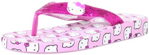 Hello Kitty Women's Rubber Platform Flip Flops