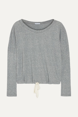 Eberjey Heather Jersey Pajama Top - Gray