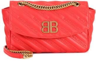 Balenciaga Chain Round S leather shoulder bag