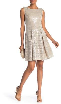 Vince Camuto Sequin Lace Sleeveless Dress
