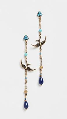 Zimmermann Delicate Swallow Drop Hoop Earrings