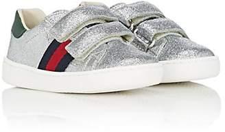 c6e8808a3 Gucci Kids' New Ace Glitter Sneakers - Silver