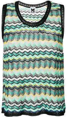 M Missoni chevron knit tank top
