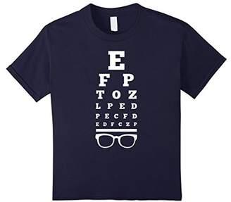 Eye Vision Chart Funny Optometrist Optometry Glasses T-Shirt