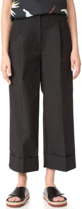 3.1 Phillip Lim Wide Leg Cuff Trousers $395 thestylecure.com