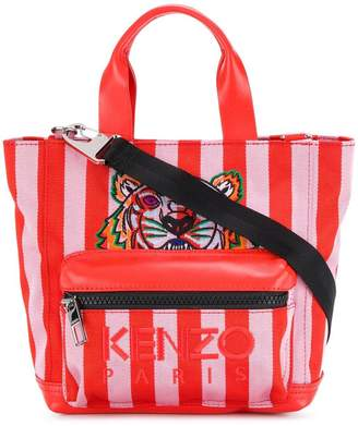 Kenzo striped Tiger tote bag