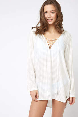Billabong Same Story Hooded Cover Up White S
