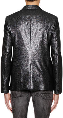 Just Cavalli Men's One-Button Metallic Jacket
