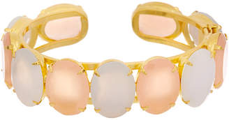 Bounkit 14K Plated Rose Quartz Cuff