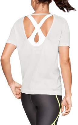 Under Armour Women's UA Vanish Seamless Keyhole Spacedye Short Sleeve
