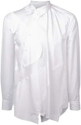 Comme des Garcons asymmetric mesh panel shirt