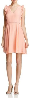 Rebecca Taylor Silk Flutter Trim Dress $375 thestylecure.com