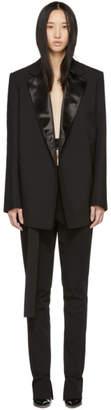 Helmut Lang Black Canvas Tuxedo Blazer