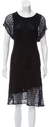 Thakoon Crochet-Knit Linen Dress