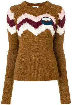 See by Chloe crew neck jumper