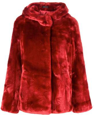 Tagliatore faux fur hooded jacket
