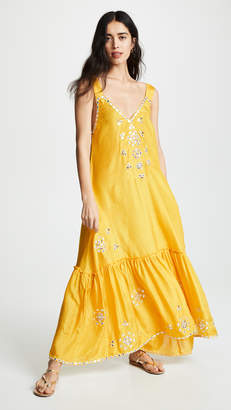 Juliet Dunn Silk Maxi V Dress