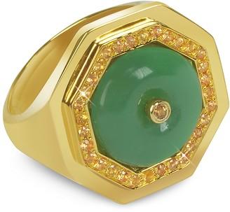Sho London Aventurine Clementina Ring