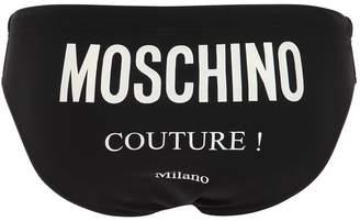Moschino Logo Printed Tech Swim Briefs
