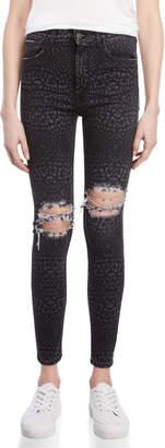 Marcelo Burlon County of Milan Black Leopard Skinny Jeans