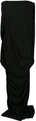 Rick Owens draped maxi dress