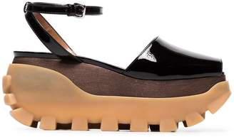 Marni 80 patent leather flatform sandals