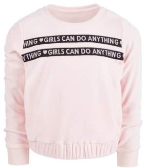 Ideology Little Girls Velour Sweatshirt, Created for Macy's
