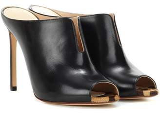 Francesco Russo Leather mules