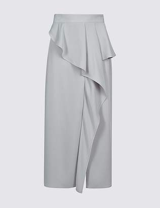 Marks and Spencer Frill Maxi Skirt