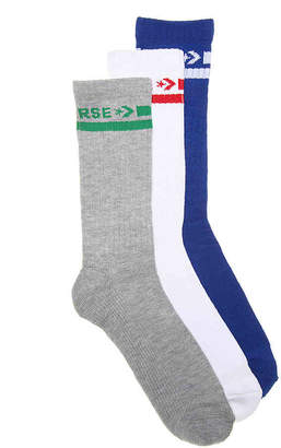 Converse Double Stripe Crew Socks - 3 Pack - Men's