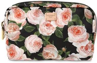 Dolce & Gabbana Nylon Floral Print Beauty Case