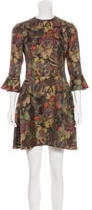 Valentino Satin Butterfly Dress