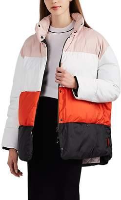 BIANNUAL Women's Colorblocked Oversized Puffer Jacket