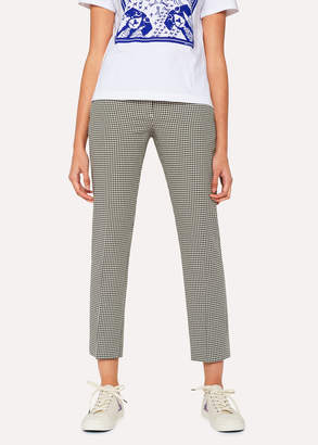 Paul Smith Women's Slim-Fit 'Dogtooth' Cotton Pants