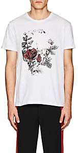 "Alexander McQueen Men's ""Gothic Rose"" Cotton Jersey T-Shirt - White"