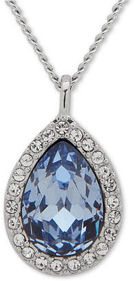 "Givenchy Pave & Stone Pear Pendant Necklace, 16"" + 3"" extender"
