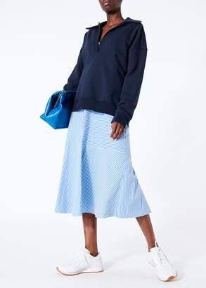 Tibi Kaia Stripe Flared Long Cami Dress