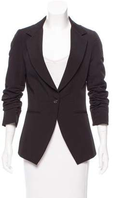 Elizabeth and James Ruched Notched-Lapel Blazer
