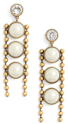 Women's Marc Jacobs Ball Chain Drop Earrings $125 thestylecure.com