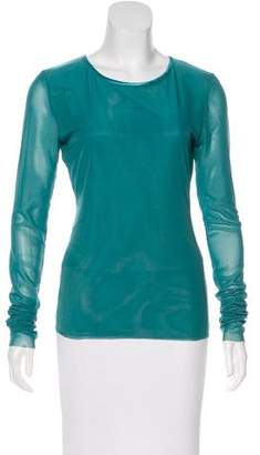 Elizabeth and James Semi-Sheer Long Sleeve Top