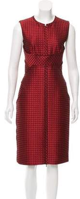 J. Mendel Geometric Pattern Sheath Dress