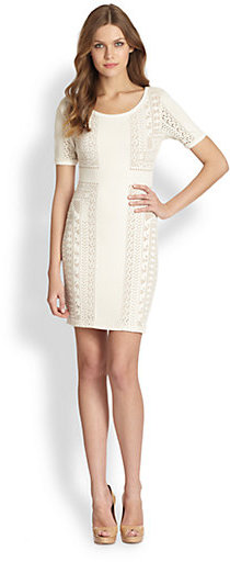 ABS by Allen Schwartz Crochet Bodycon Dress