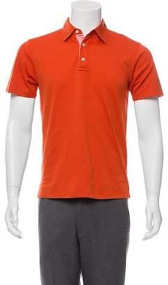 Michael Kors Woven Short Sleeve Polo