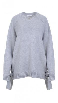 Cashmere Crewneck Tie Detail Sweater $695 thestylecure.com