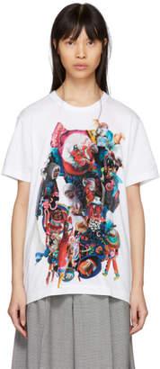 Comme des Garcons White Print T-Shirt