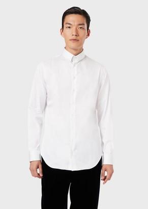 Giorgio Armani Regular-Fit Shirt In Cotton Twill