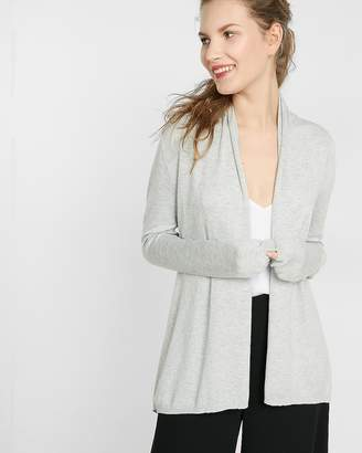 Express Petite Heathered Roll Neck Cardigan
