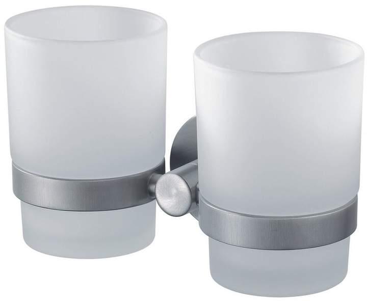Haceka Kosmos Double Glass Beaker And Chrome Holder