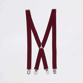 River Island Burgundy belt suspenders